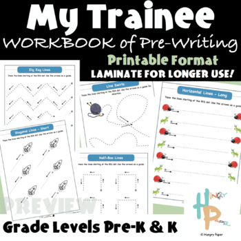 My Trainee Pre-Writing Workbook