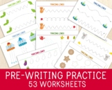 Pre-Writing Worksheets - Tracing Pages - Fine Motor Skills