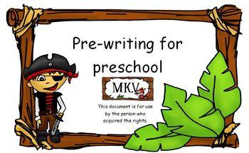 Pre-Writing for preschool pirate theme