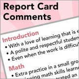 Sentences for Report Card Comments (Includes Comments for