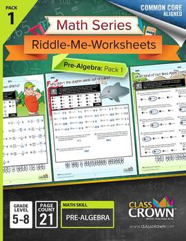 Pre-algebra, Geometry, Ratios and Percents Worksheets Bundle Pack – CCSS Aligned
