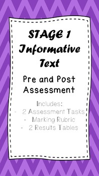 Pre and Post Assessment Pack for Informative Texts (Stage 1)