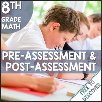 CCSS Grade 8 Math Pre-Assessment and Post-Assessment