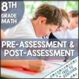 8th Grade Math Pre-Assessment and Post-Assessment