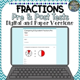 Distance Learning Pre and Post Fractions Assessments