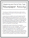 Pre and Post Newspaper Activity