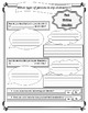 Pre and Post Writing Character Planning Worksheet