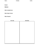 Pre and Post art project worksheet