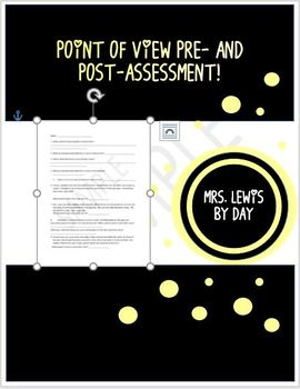 Pre-assessment / Post-assessment for Points of View Lesson-Fourth Grade