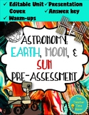 Space Warm-ups Worksheet Activity | Middle School Science