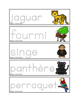 Pré-écriture des animaux de la jungle
