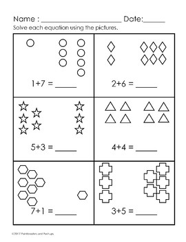 pre k 1st grade easy addition worksheets 0 11 25. Black Bedroom Furniture Sets. Home Design Ideas
