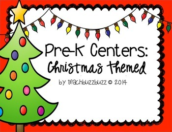 Pre-K Centers: Christmas Themed