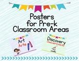 Pre-k Classroom Area Posters