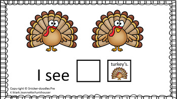 Pre-k Counting Tracing Turkeys Adapted Book Special education