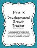 Pre-k Growth Tracker & Narrative Summary for Teaching Stra