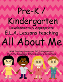 Pre-k / K All About Me Lesson Plans with Teaching Strategies GOLD Objectives
