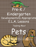 Pre-k / K Pets Lesson Plans aligned with Teaching Strategi