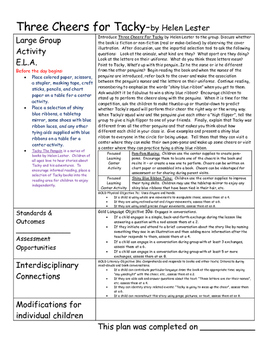 Pre-k / K Snow and Penguin Lesson Plans with teaching Strategies GOLD objectives