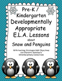Pre-k / K Snow and Penguin Lesson Plans with teaching Stra