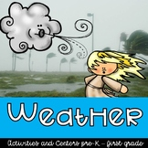 Pre-k/Kindergarten/1st grade Weather Centers, Worksheets, Crafts, Research