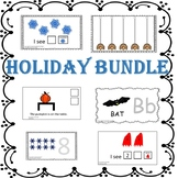 Pre-k Math, Counting, Tracing, Prepositions Holiday Adapte