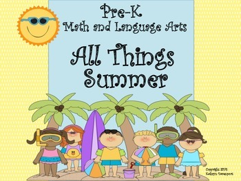 Pre-k Math and Language Arts All Things Summer