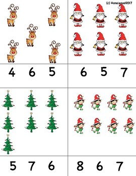 Pre-k and Kindergarten Math Holiday Counting