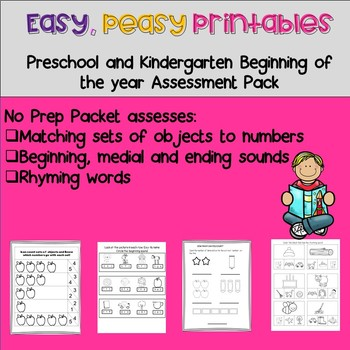 Easy, Peasy Printables: Pre-k and Kindergarten Readiness Assessement Pack