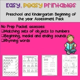 Easy, Peasy Printables: Pre-k and Kindergarten Readiness A
