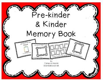 Pre-k/ kinder Memory  book/ Mis recuerdos de Pre-k/ Kinder