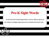 Pre-k sight words