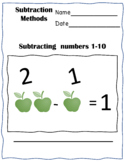 Pre-k, year 1 and 2 subtraction methods work-pack