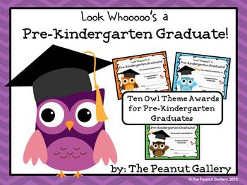 Pre-kindergarten Graduation Certificates (Owl Theme)