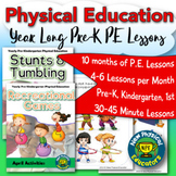 Pre-kindergarten Physical Education Year Long Lesson Plans