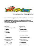 Pre-kindergarten Progress Report
