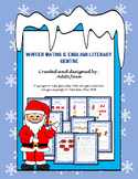 Pre-kindergarten & kindergarten Maths & English CHRISTMAS Special NO PREP