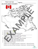 Pre-knowledge Canadian Test