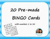Pre-made BINGO Cards - Numbers 1-50