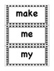 Pre-primer Black and White Stars Word Wall Set