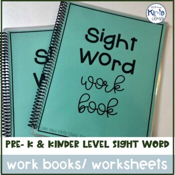 Pre-primer Dolch Sight Word Work Books or Worksheets-Differentiate in TWO Levels