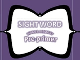 Pre-primer Dolch Word Bingo and Memory