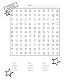 Pre-primer Dolch Word Search