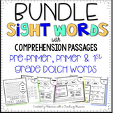 BUNDLE Pre-primer, Primer, and 1st Grade Sight Word Comprehension Passages