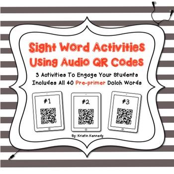Sight Words Audio QR Code Activities: Pre-primer