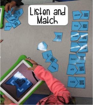 Sight Words Audio QR Code Activities: Third Grade