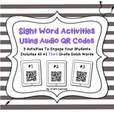 Sight Words Audio QR Code Activities: Third Grade