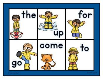Sight Word Bingo Pre-primer 1