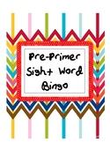 Pre-primer Sight Word Bingo