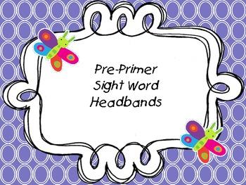 Pre-primer Sight Word Headbands